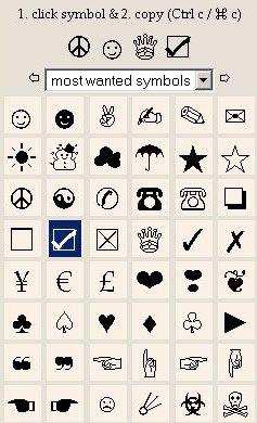 ☆Unicode Symbol Map☆